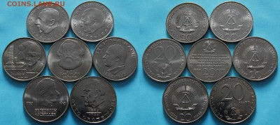 [ФИКС] Юбилейка ГДР 5 10 и 20 марок 1971-1990 - 21 монета - 392