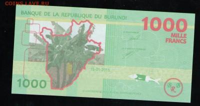 БУРУНДИ 1000 ФРАНКОВ 2015 UNC - 4 001