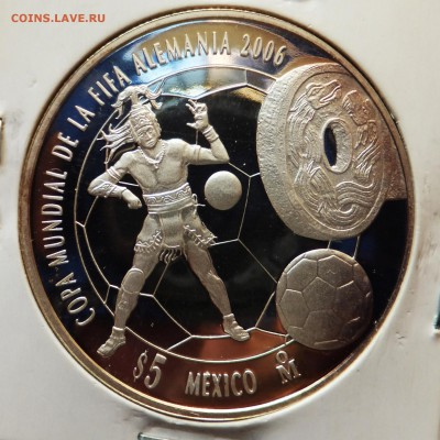 Мексиканские монеты - футбол1