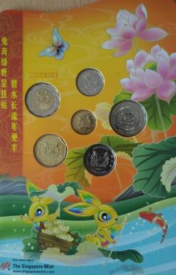 набор монет Сингапура 2011 - сингапур сет 2011 аверс
