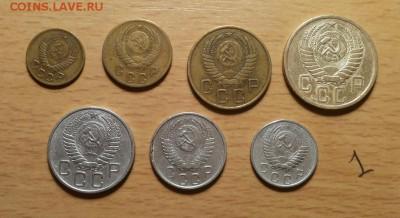 годовой комплект 1955г -1,2,3,5,10,15,20 коп до 1.04 блиц - 1955 годовой 1 2