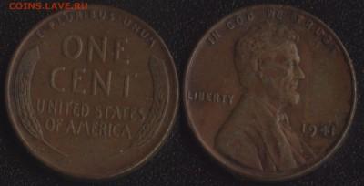 США 1 цент 1941 №2 до 22:00мск 02.04.18 - США 1 цент 1941 №2