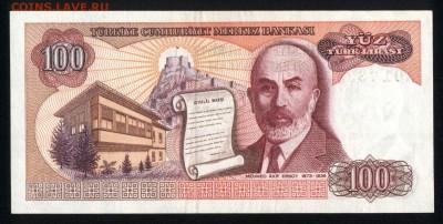Турция 100 лир 1984 (1970) аunc 13.04.18 22:00 мск - 1