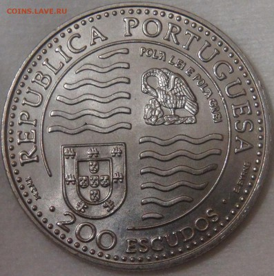 Португалия 200 эскудо 1995 UNC Принц Иоан II 11.04.18 22-30 - DSC02147.JPG