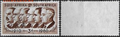 ЮАР 1960. ФИКС. Mi ZA 273. 50 лет Южно-Африканскому союзу - 273