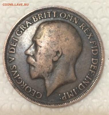 Великобритания 1 пенни 1919 года 22.04.2018 22:00 - пенни