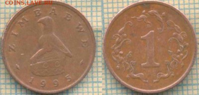 Зимбабве 1 цент 1995 г., до 29.04.2018 г. 22.00 по Москве - Зимбабве 1 цент 1995
