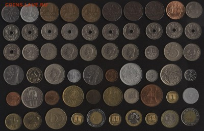 Иностранные монеты (60 штук) по 25 руб. поштучно ФИКС - х25-1