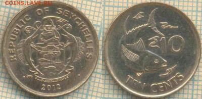 Сейшелы 10 центов 2012 г., до 02.05.0018 г. 22.00 по Москве - Сейшелы 10 центов 2012  643
