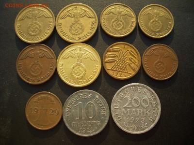 Германия, Веймар, 3-й Рэйх (бронза, никель, медь)-07.05.18 - Pfennigs (36).JPG
