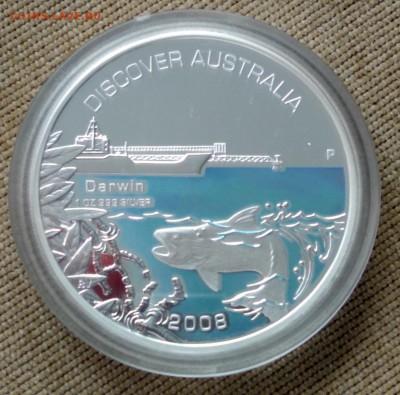 Австралия 1 доллар 2008г Дарвин Рыба Серебро - 1