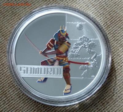 САМУРАЙ Тувалу 2010 ВЕЛИКИЕ ВОИНЫ цветная, 1 dollar - 3