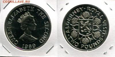 Олдерни 2 фунта разные по ФИКСу до 07.05.18 22-00 мск - Alderney 2P 1989 RV