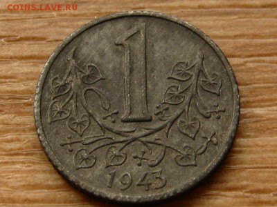 Богемия и Моравия 1 крона 1943 цинк до 07.05.18 в 22.00 М - IMG_4342.JPG