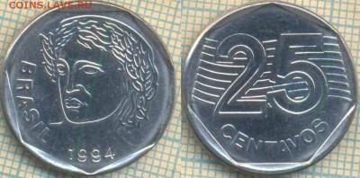 Бразилия 25 сентаво 1994 г., до 16.05.0018 г. 22.00 по Москв - Бразилия 25 сентаво 1994  875