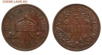 5 хеллеров 1908 г. - Германская Восточная Африка - 5 гелл
