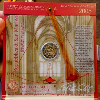САН-МАРИНО - 2 евро ГАЛИЛЕЙ буклет до 22.05, 22.00 - Сан-Марино 2 евро Галилей буклет_4