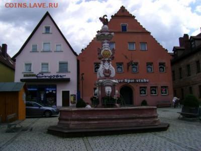 Нотгельды. - Рыночная площадь с фонтаном  построенным в 1757 году