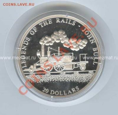 Либерия 20 $ Серебро Proof. - image