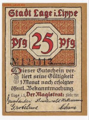 Нотгельд - Лаге 25 пфеннигов 1921 г. до 07.06 в 22.00 - IMG_20180601_0006