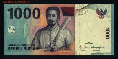 Индонезия 1000 рупий 2009 unc до 15.06.18. 22:00 мск - 2