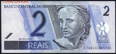 Бразилия 2 реала 2001 unc 17.06.18. 22:00 мск - 2