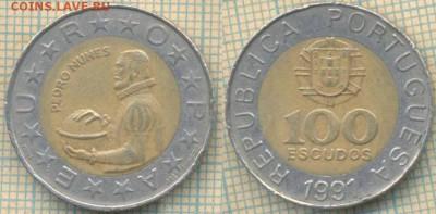 Португалия 100 эскудо 1991 г., до 20.06.2018 г. 22.00 по Мос - Португалия 100 эскудо 1991 491