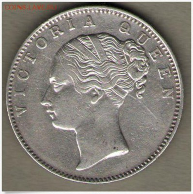 Монеты Индии и все о них. - Британская Индия-одна рупия 1840 Виктория 2