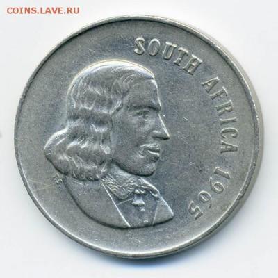 ЮАР 20 центов 1965 - ЮАР_1965-20центов_А