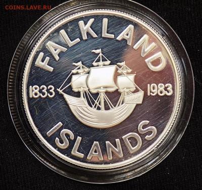 50 пенсов (pence) 1983 года Фолклендские острова Корабль! - фолкленды 50 (1).JPG