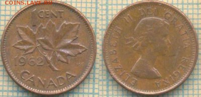Канада 1 цент 1962 г, до 10.07.2018 г. 22.00 по Москве - Канада 1 цент1962  1615