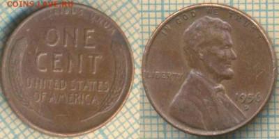 США 1 цент 1956 г. D, до 10.07.2018 г. 22.00 по Москве - США 1 цент 1956  1614