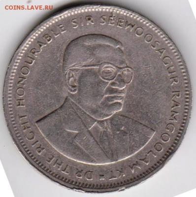 Маврикий 5 рупий 1991 г. до 24.00 17.07.18 г. - 013
