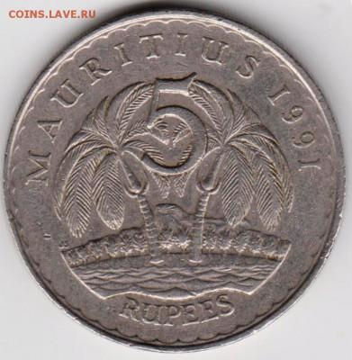 Маврикий 5 рупий 1991 г. до 24.00 17.07.18 г. - 037
