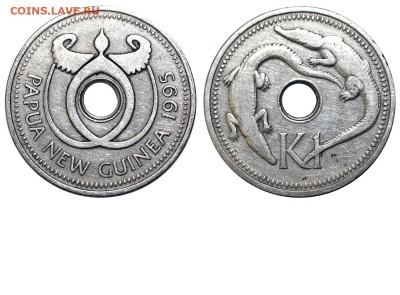 Животные на монетах - Папуа-Новоя Гвинея - 1 кина 1995