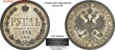 О фотографировании монет - 1 рубль 1878 СПБ НФ в каталог