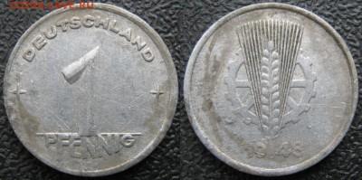28.Ходячка ГДР 1 пфенниг 1948-1989г - 28.2. -ГДР 1 пфенниг 1948 А    7546