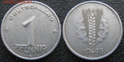 28.Ходячка ГДР 1 пфенниг 1948-1989г - 28.3. -ГДР 1 пфенниг 1949 А    7503
