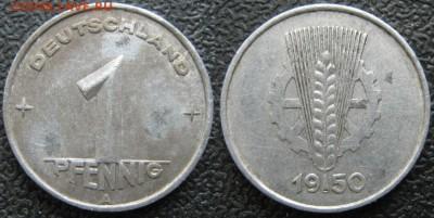 28.Ходячка ГДР 1 пфенниг 1948-1989г - 28.4. -ГДР 1 пфенниг 1950 А    7627