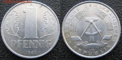 28.Ходячка ГДР 1 пфенниг 1948-1989г - 28.12. -ГДР 1 пфенниг 1960 А    7505