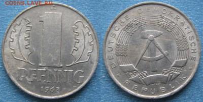 28.Ходячка ГДР 1 пфенниг 1948-1989г - 28.16. -ГДР 1 пфенниг 1963 А    8253