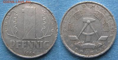 28.Ходячка ГДР 1 пфенниг 1948-1989г - 28.20. -ГДР 1 пфенниг 1965 А    8257