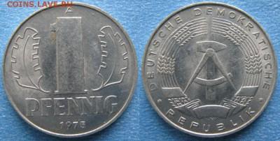 28.Ходячка ГДР 1 пфенниг 1948-1989г - 28.23. -ГДР 1 пфенниг 1975 А    7319