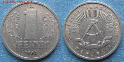 28.Ходячка ГДР 1 пфенниг 1948-1989г - 28.30. -ГДР 1 пфенниг 1982 А    8254