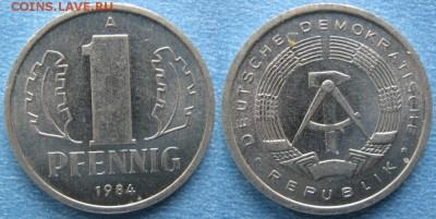 28.Ходячка ГДР 1 пфенниг 1948-1989г - 28.32. -ГДР 1 пфенниг 1984 А    7318