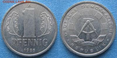 28.Ходячка ГДР 1 пфенниг 1948-1989г - 28.33. -ГДР 1 пфенниг 1985 А    6996