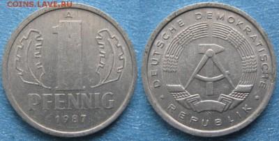 28.Ходячка ГДР 1 пфенниг 1948-1989г - 28.35. -ГДР 1 пфенниг 1987 А    8238