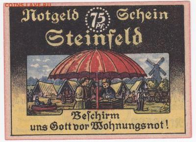 Нотгельд - Штайнфельд 75 пфеннигов 1921 г. до  26.08 в 22:00 - IMG_20180820_0003