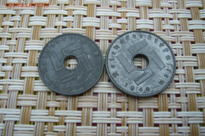 5 + 10 пфеннигов 1940 гг - оккупация - P1910521.JPG
