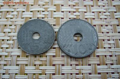5 + 10 пфеннигов 1940 гг - оккупация - P1910525.JPG